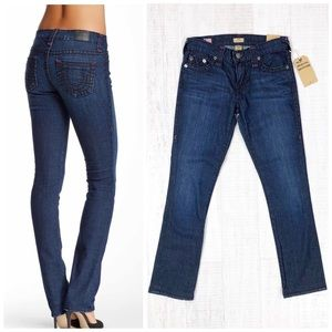 True Religion Cora Super T Slim Straight Jean 24